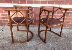 Josef Hoffmann Josef Hoffmann Fledermaus Chairs for J J Kohn - 1194557
