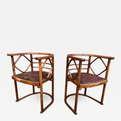 Josef Hoffmann Josef Hoffmann Fledermaus Chairs for J J Kohn - 1195176
