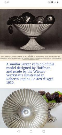 Josef Hoffmann Josef Hoffmann for Wiener Werkstatte Vienna circa 1920 Silver Dish Pair - 1807134