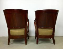 Josef Hoffmann Pair of Walnut and Leather Vienna Secessionist Club Chairs - 219079