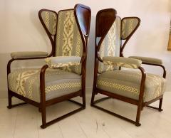 Josef Hoffmann Rare Pair of Josef Hoffmann Wingback Chairs - 1046980