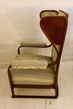 Josef Hoffmann Rare Pair of Josef Hoffmann Wingback Chairs - 1046982
