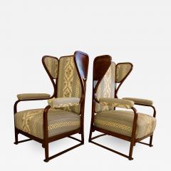 Josef Hoffmann Rare Pair of Josef Hoffmann Wingback Chairs - 1050173