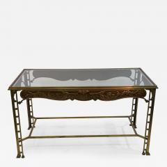 Josef Hoffmann SECESSIONIST ERA ORNATE BRONZE TABLE - 1083116