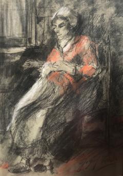 Josef Israels Woman Mending  - 1218278
