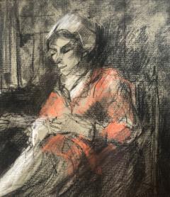 Josef Israels Woman Mending  - 1218279