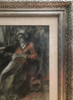 Josef Israels Woman Mending  - 1218281