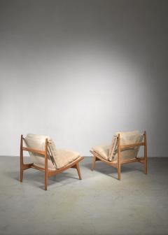 Joseph Andre Motte Joseph Andre Motte pair of chairs for Steiner - 1450153