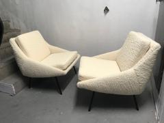 Joseph Andre Motte Pair of armchairs 800 for Steiner France 1950s - 2035671