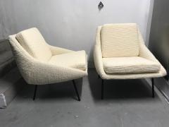 Joseph Andre Motte Pair of armchairs 800 for Steiner France 1950s - 2035672
