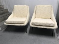 Joseph Andre Motte Pair of armchairs 800 for Steiner France 1950s - 2035673