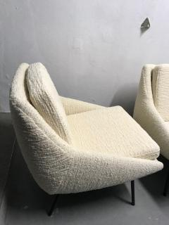 Joseph Andre Motte Pair of armchairs 800 for Steiner France 1950s - 2035675