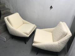 Joseph Andre Motte Pair of armchairs 800 for Steiner France 1950s - 2035676
