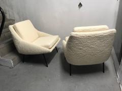 Joseph Andre Motte Pair of armchairs 800 for Steiner France 1950s - 2035677