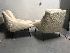 Joseph Andre Motte Pair of armchairs 800 for Steiner France 1950s - 2035679