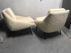 Joseph Andre Motte Pair of armchairs 800 for Steiner France 1950s - 2035680