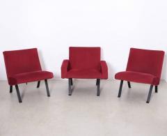 Joseph Andre Motte Rare Slipper Chairs by Joseph Andr Motte for Steiner France 1955 - 533194