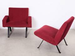 Joseph Andre Motte Rare Slipper Chairs by Joseph Andr Motte for Steiner France 1955 - 533195