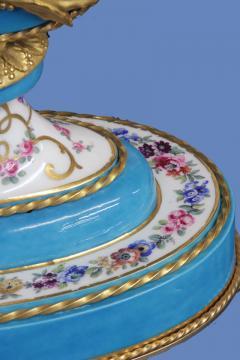 Joseph Dieudonn Kinable c 1820 Very Rare Ormolu and bleu turquoise Porcelain Lyre Clock - 1276326