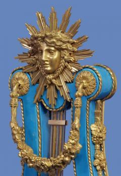 Joseph Dieudonn Kinable c 1820 Very Rare Ormolu and bleu turquoise Porcelain Lyre Clock - 1276327