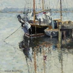 Joseph Eliot Enneking Boats Mystic Connecticut c 1926 - 272695