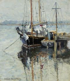 Joseph Eliot Enneking Boats Mystic Connecticut c 1926 - 272708
