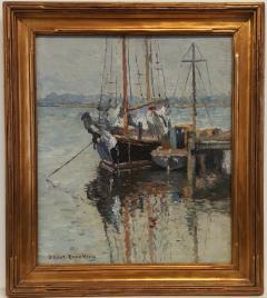 Joseph Eliot Enneking Boats Mystic Connecticut c 1926 - 272710