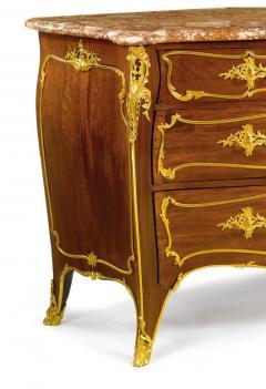 Joseph Emmanuel Zwiener Louis XV Style French Ormolu Mounted Mahogany Commode by Joseph mmanuel Zwiener - 1046442