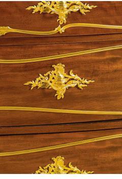 Joseph Emmanuel Zwiener Louis XV Style French Ormolu Mounted Mahogany Commode by Joseph mmanuel Zwiener - 1046443