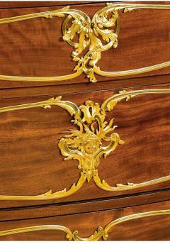 Joseph Emmanuel Zwiener Louis XV Style French Ormolu Mounted Mahogany Commode by Joseph mmanuel Zwiener - 1046444