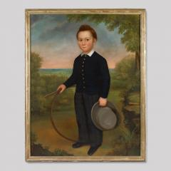 Joseph Goodhue Chandler Portrait of a Young Boy Holding a Hoop and a Hat - 416492