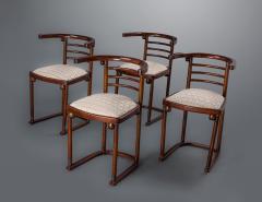 Joseph Hoffman Johnson A Set of Four Joseph Hoffmann Die Fledermaus Chairs by Mundus - 752839
