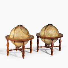 Josiah Loring A pair of 12 inch table globes by Josiah Loring dated 1844 and 1841 - 1672924