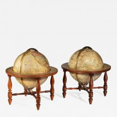 Josiah Loring A pair of 12 inch table globes by Josiah Loring dated 1844 and 1841 - 1673956