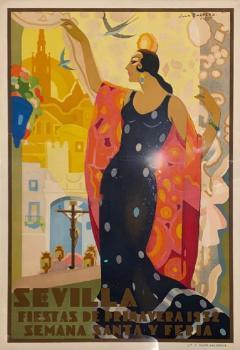 Juan Bacera Juan Baceras Fiesta De Primavera 1932 Art Deco Lithographic Poster - 1482447