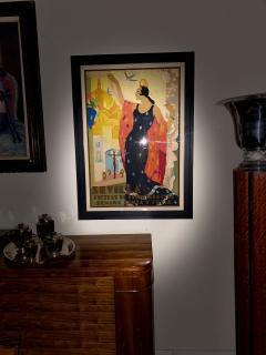 Juan Bacera Juan Baceras Fiesta De Primavera 1932 Art Deco Lithographic Poster - 1482470
