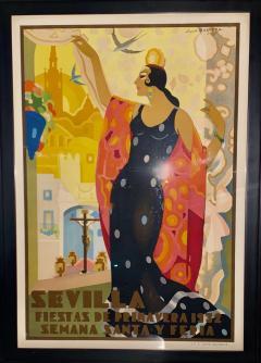 Juan Bacera Juan Baceras Fiesta De Primavera 1932 Art Deco Lithographic Poster - 1482471
