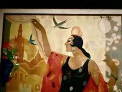 Juan Bacera Juan Baceras Fiesta De Primavera 1932 Art Deco Lithographic Poster - 1482472