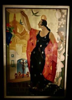 Juan Bacera Juan Baceras Fiesta De Primavera 1932 Art Deco Lithographic Poster - 1482473