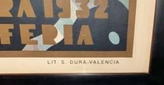 Juan Bacera Juan Baceras Fiesta De Primavera 1932 Art Deco Lithographic Poster - 1482476