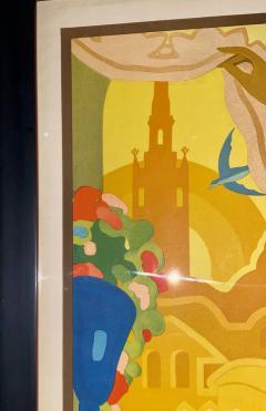 Juan Bacera Juan Baceras Fiesta De Primavera 1932 Art Deco Lithographic Poster - 1482477