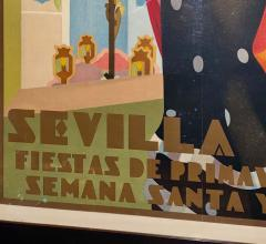Juan Bacera Juan Baceras Fiesta De Primavera 1932 Art Deco Lithographic Poster - 1482478