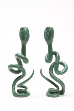Judy Kensley Mckie Snake Candlesticks - 1050197