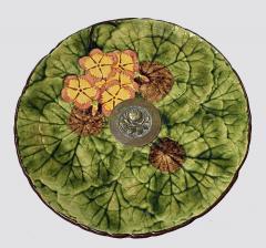 Jugendstil Floral Majolica and Silver Plate Centerpiece Germany C 1900 - 1793321