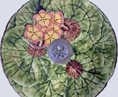 Jugendstil Floral Majolica and Silver Plate Centerpiece Germany C 1900 - 1793324