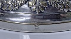 Jugendstil Floral Majolica and Silver Plate Centerpiece Germany C 1900 - 1793325