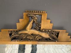 Jules Bouy MAGNIFICIENT ART DECO BRONZE GAZELLE SKYSCRAPER MIRROR BY JULES BOUY - 1847768