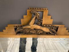 Jules Bouy MAGNIFICIENT ART DECO BRONZE GAZELLE SKYSCRAPER MIRROR BY JULES BOUY - 1847770