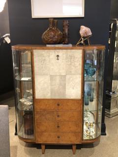 Jules Deroubaix Art Deco Burl Sandalwood Wood and Shagreen Secretaire Cabinet by Jules Deroubaix - 2135335