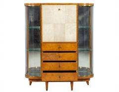 Jules Deroubaix Art Deco Burl Sandalwood Wood and Shagreen Secretaire Cabinet by Jules Deroubaix - 2135366